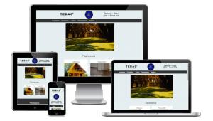 """Главная страница на сайте строительной компании """"TEBAG"""""""