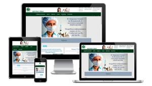 Главная страница на сайте медицинского центра