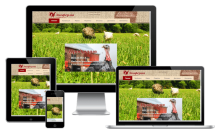 Главная страница на сайте компании OOO «Агрофирма Хрустали»